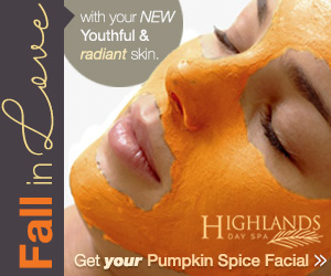 Highlands North Day Spa fall specials