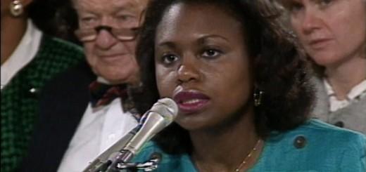 Anita Hill testifying in 1991.