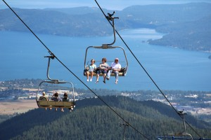 The Great Escape Quad, with Lake Pend Oreille in the background. Photo by Ben Olson.