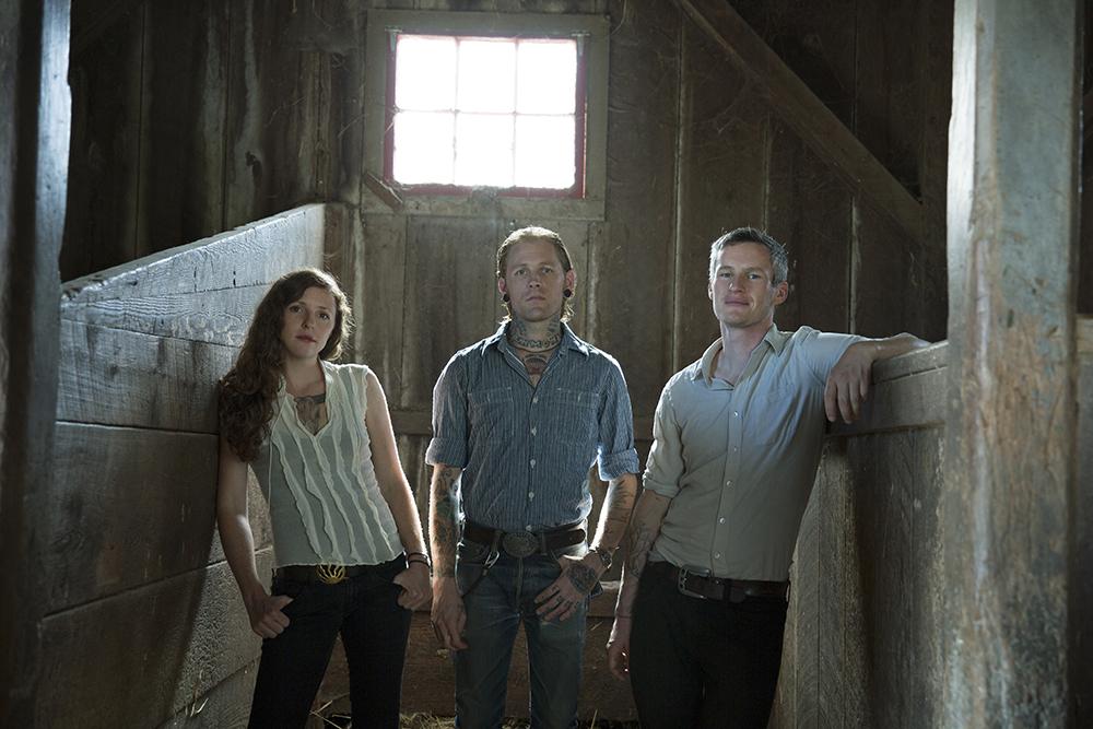 The Devil Makes Three is Lucia Turino (left), Cooper McBean (center) and Pete Bernhard. Photo by Piper Ferguson.
