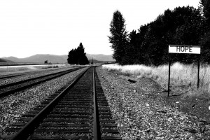 The tracks outside of Hope, Idaho. Photograph by Ben Olson.