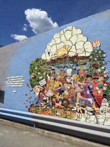 The public art mural outside of the Post Office. Photo by Ferris McDaniel.