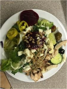 Mmm… cheap salad.