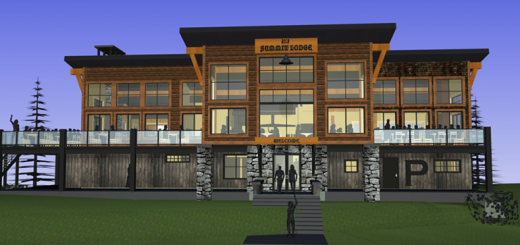 A conceptual drawing of the new Summit Lodge atop Schweitzer Mountain Resort.