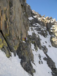 At the 14,000' on Mt. Sill in the Sierras. Photo courtesy Don Otis.