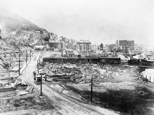 Wallace, Idaho in 1915, five years after the Big Burn. Library of Congress photo.