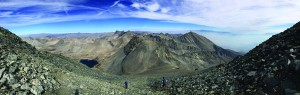 A photo at 13,500' looking north from Split Mountain. Photo courtesy Don Otis.