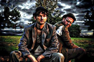 """Waiting For Godot"" actors Michael Bigley (left) and Dan Simons (right). Photo courtesy Unknown Locals."