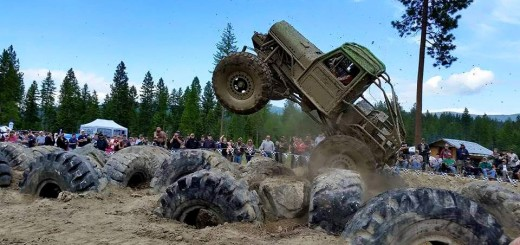 A tricked out off-road truck navigates the course at the Purcell Trench Ranch. Photo courtesy Mountain Mafia Entertainment.