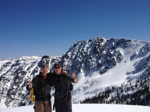Training for the big ones -- Ken Emerson and Don Otis in Cabinets (winter 2015) – Scotchman's in the BG (on Goat Mountain)