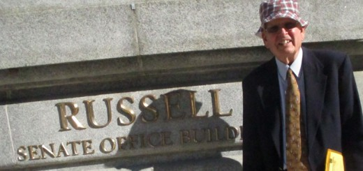 Dave Pietz outside Sen. Risch's office in Wash., D.C.
