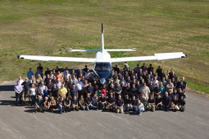 Idaho PTECH is preparing students to transition directly into employment for companies like Quest Aircraft, pictured above with their 100th plane. Photo courtesy of Quest Aircraft.
