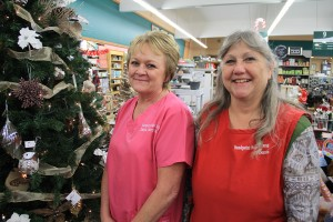The Sandpoint Super Drug ladies of the day; Debbie Felland, left, and Donna Greenwood, right. Photo by Ben Olson.