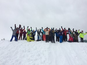 A group of snow school participants. Looks like they're having absolutely no fun at all, doesn't it? Photo by SOLE.