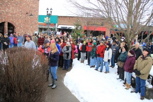 A crowd of over 160 people gathered for the event in Bonners Ferry Saturday. Photo by Ben Olson.