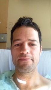 Mayor Shelby Rognstad snaps a quick post-surgery photo at Kootenai Health.