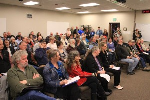 Over 90 people were in attendance at Tuesday's Commissioner's meeting. Photo by Ben Olson.