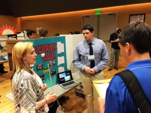 Zach Deason and Bekah Davis share their presentation on flowering rush in Moscow. Courtesy photo.