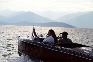 A couple takes a run on the lake during last year's Antique and Wooden Boat Show in Sandpoint. Photo courtesy of ACBS.