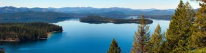 An aerial view of Priest Lake. Photo courtesy of ICL.
