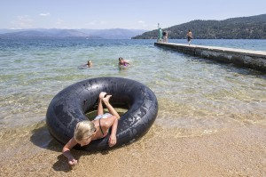 Another beautiful day on the water at Sandpoint City Beach. Photo by Cameron Barnes.