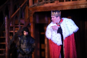 Sam Pearson as the title character in Richard III. Photo by Winslow Studio and Gallery.