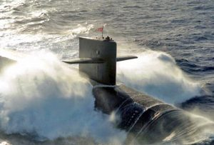 The USS Maine, a US Navy Ohio-class ballistic missile submarine. Photo courtesy USN.