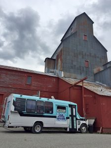 Soul Picnic is conveniently located next to the coolest building in town, the old Granary tower in the Evans Brothers parking lot.  Photo by Jules Fox.