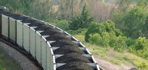 A train loaded with coal navigates a bend in the track. Courtesy photo.