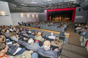 Around 200 people attended Wednesday's candidate forum hosted by SandpointOnline and the Sandpoint Reader. Photo by Cameron Barnes.