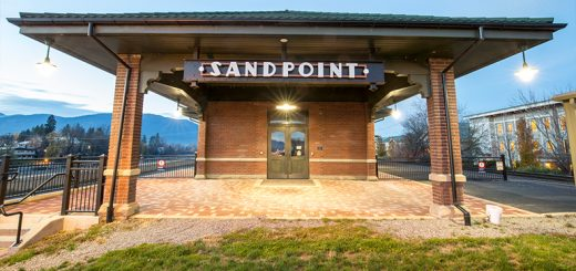 Sandpoint's Amtrak Train Depot. Photo by Cameron Barnes.