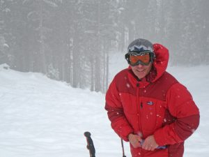 """This photo of Doug Abromeit was taken on the backside of Schweitzer. Photo by John """"Oly"""" Olson."""