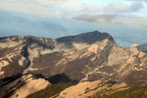 The north side of Scotchman Peak, as seen from the air. Photo by Ben Olson.