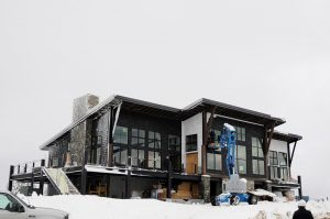 Construction is nearing completion at the Sky House on Schweitzer's summit. Courtesy photo.
