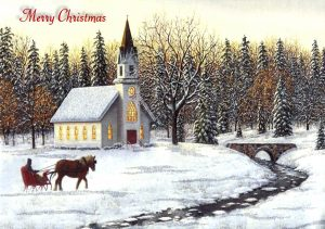 religious-christmas-evening-church-december-snow-winter-holiday-sleigh-illustration-art-artwork-wide-screen-occasion-hd-desktop