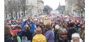 Hundreds of thousands gathered for the Women's March on Sat. Jan. 21. Photo by Cameron Rasmusson.