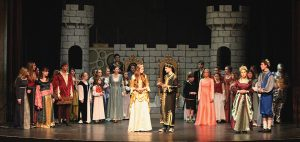 The cast of Once Upon a Mattress on stage