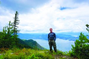 Jim Armbruster poses in the nature he loves to experience. Courtesy photo