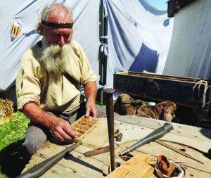 Weezil Samter demonstrates his craftsmanship. Courtesy photo