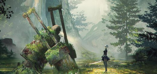 """NieR: Automata"" portrays a machine-ruled world slowly being reclaimed by nature. Image courtesy Square Enix."