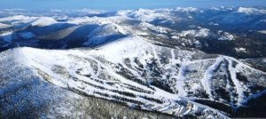 An aerial view of Schweitzer Mountain Resort. Photo courtesy Schweitzer Mountain Resort.