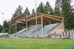 Memorial Field grandstands. Photo by Lyndsie Kiebert.